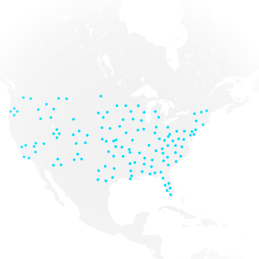Map of clinics using Volpara in the US